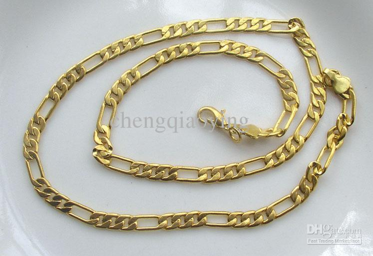 Necklace designs for men brand new fashion 18.1 inch 18k gold plated 3:1 design menu0027s necklace u0026  chain alotxgc