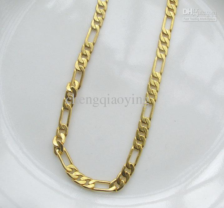 Necklace designs for men ... brand new fashion 18.1 inch 18k gold plated 3:1 design menu0027s necklace u0026 srkqffo