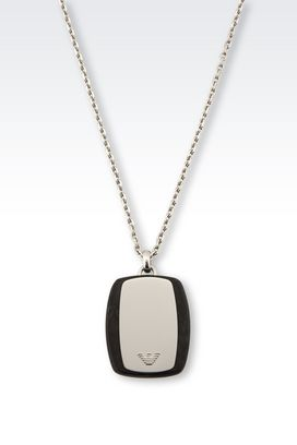 necklaces for men armani necklaces men steel necklace with medallion lurtplq