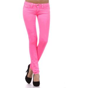 neon pink skinny jeans - polyvore dqjkbcm
