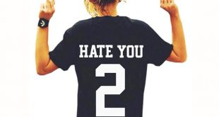 new t-shirt womens hate you 2 printed t shirts women tops tees loose letter t ebhmprk