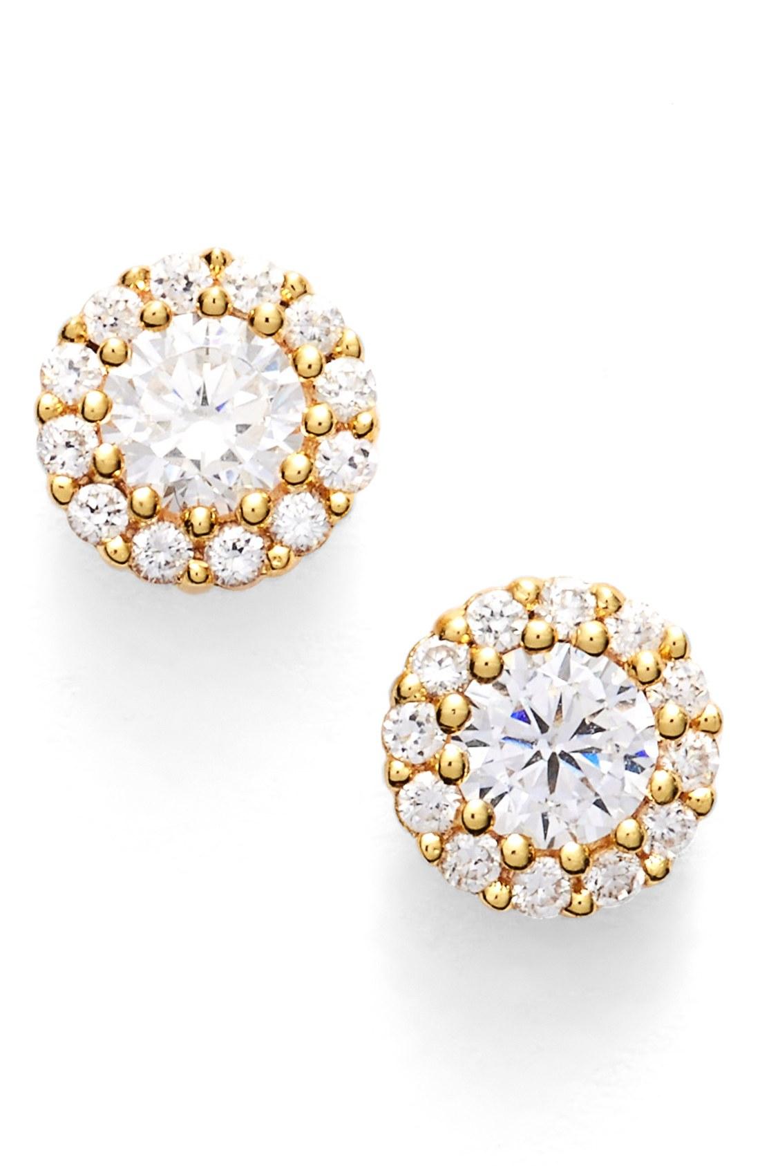 nordstrom precious metal plated 0.50ct tw cubic zirconia stud earrings ruanteu