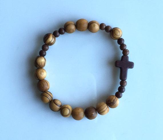 olive wood rosary bracelet ssopqba