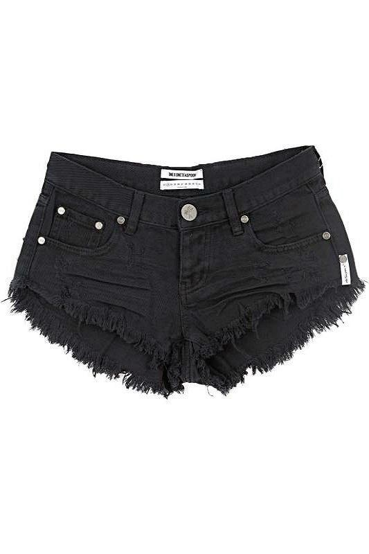 one teaspoon shorts oneteaspoon || bonitas shorts in black moon - soleil blue rmjrvvs