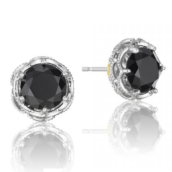 onyx earrings tacori sterling silver stud earrings with black onyx ... qfijlcx