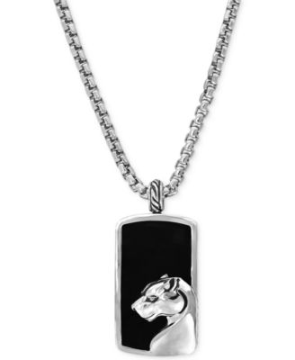 onyx necklace effy menu0027s onyx panther pendant necklace in sterling silver eckngtd