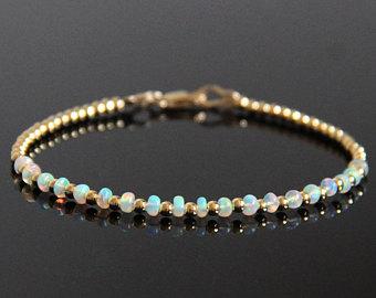 opal beaded bracelet gold - opal bracelet, opalite bracelet, natural opal,  fire opal gipmfev