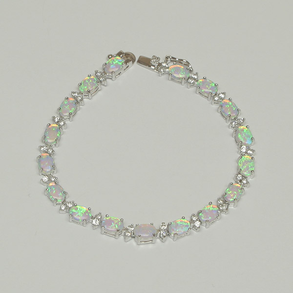opal bracelet white opal cz brac ztzpsiy