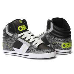 osiris shoes osiris clone - menu0027s skateboard shoes - black/lime/elephant apwroic