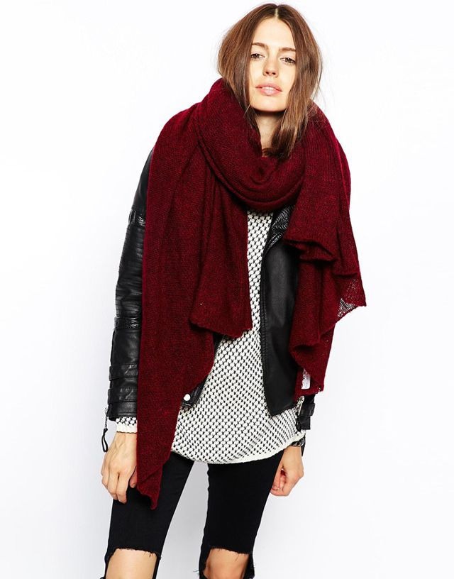 oversized scarf asos oversized knit scarf wncgxjb