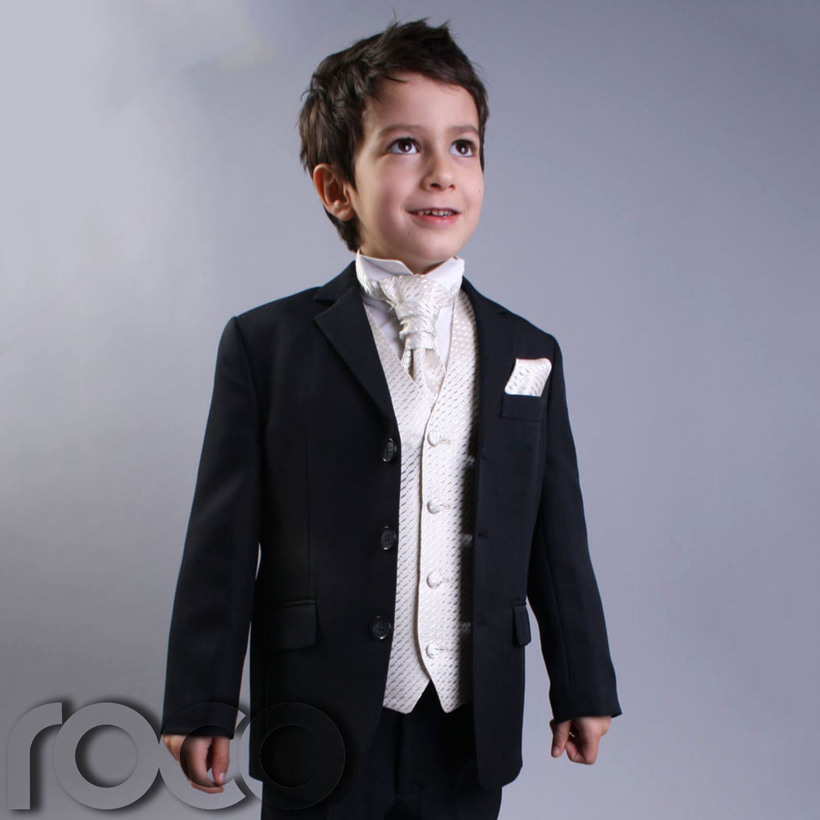 page boy suits image is loading boys-black-amp-ivory-suit-page-boy-suits- lanllcn