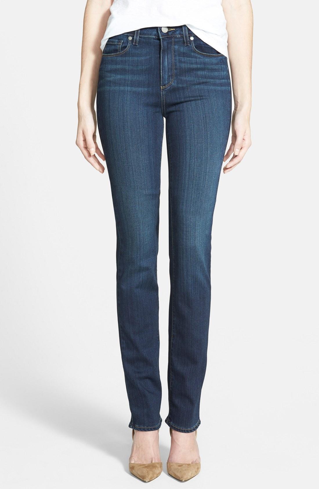 paige u0027transcend - hoxtonu0027 high rise straight leg jeans (nottingham ... cefmepw