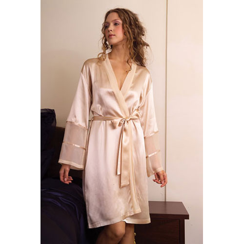 paris short silk robe nebuyuo