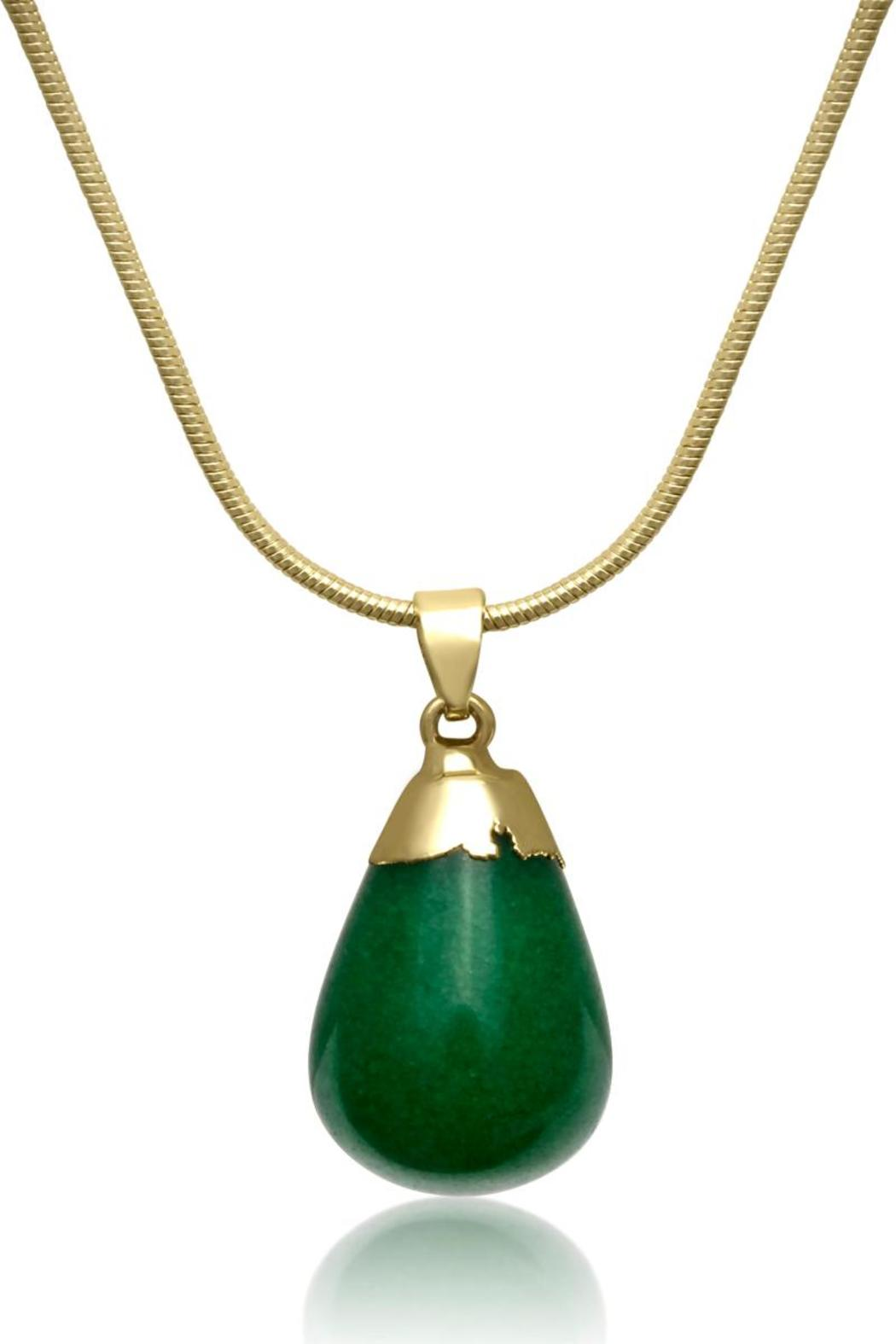 passiana dipped jade necklace - front cropped image zcckvjt