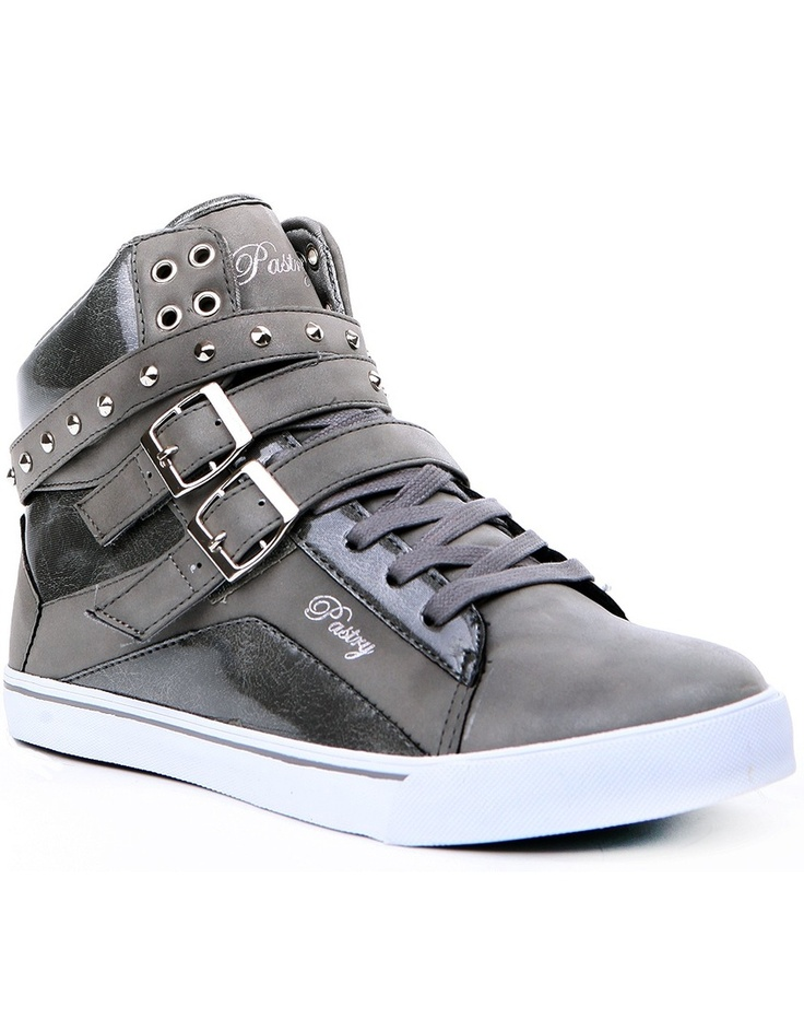 pastry sneakers footwear - hi top - pop tart strap - gray - official pastry shoes by fbqkeqp