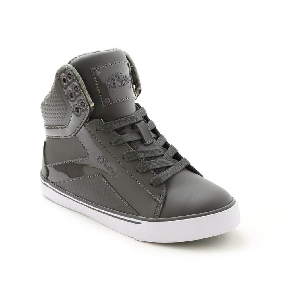 pastry sneakers pastry pop tart grid girlu0027s charcoal sneaker swmqgbh