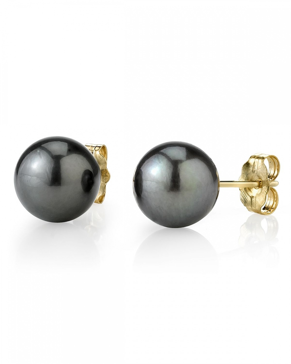 pearl earrings 9mm tahitian south sea pearl stud earrings- various colors jmdrnkv