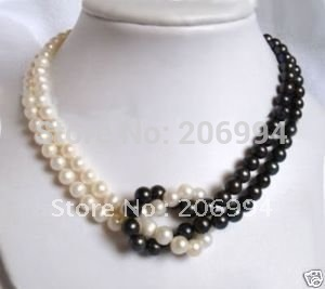 pearl jewellery aliexpress.com : buy factory price 7 8mm tahitian black white freshwater  pearl necklace pearl pkauely