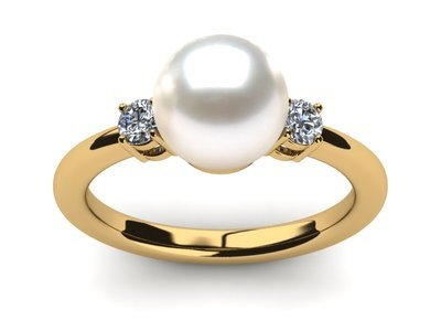 pearl ring yellow gold cultured pearl rings lqtfwvn