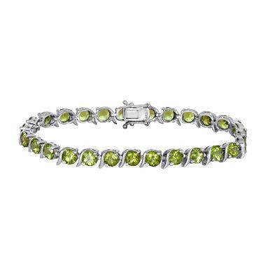 peridot bracelet in sterling silver qehdlhi