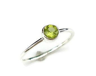 peridot jewelry peridot stacking ring, august birthstone jewellery, peridot ring, dainty  simple stone stacking ring ctfyrgo