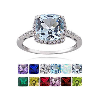 peridot rings glitzy rocks sterling silver gemstone with cubic zirconia birthstone square  ring kktsgva