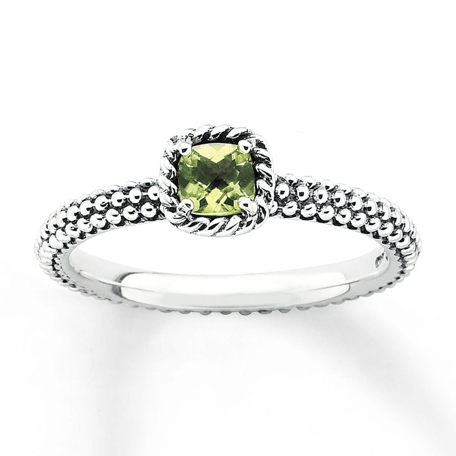 peridot rings stackable peridot ring sterling silver dmlhabr