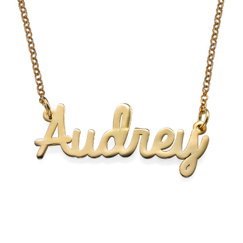 personalized necklaces personalized jewelry - cursive name necklace in 18k gold plating vwxfdru