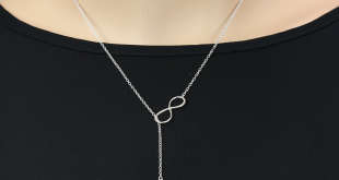 personalized sterling silver infinity birthstone bar lariat necklace dubdbcf