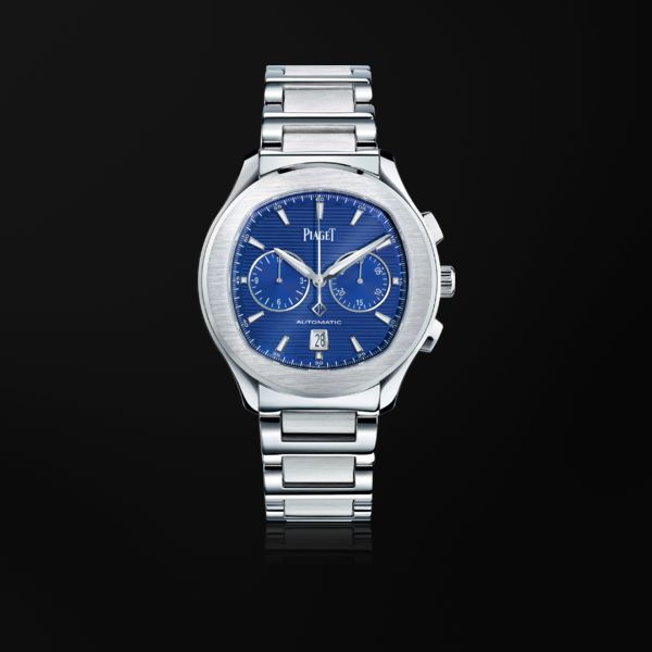 piaget watches piaget polo s watch g0a41006 chronograph watch, automatic, steel oitybrb