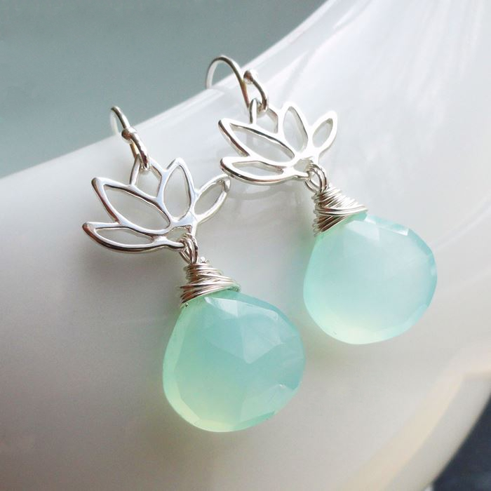 picture of lotus blossom gemstone earrings jovggcz