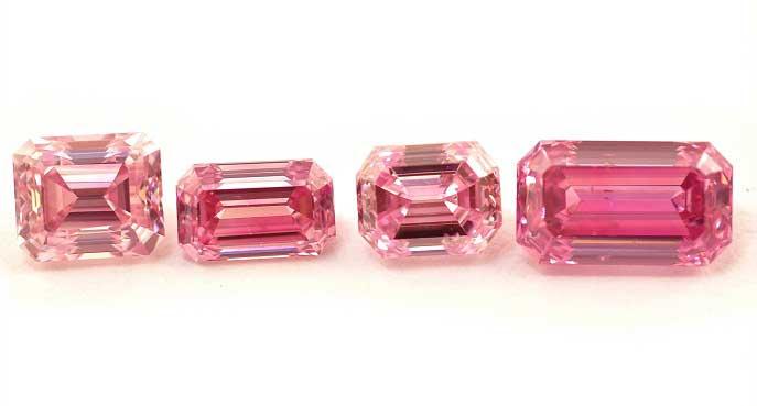 pink emeralds emerald shape pink diamonds cvqmyqr