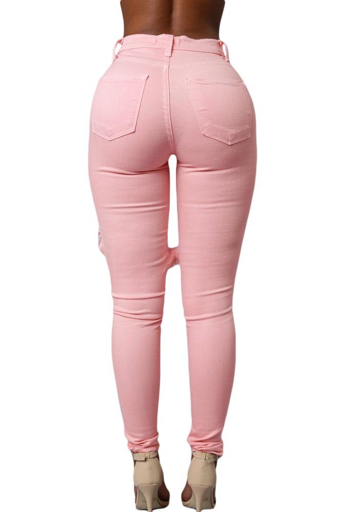 pink skinny jeans pink ripped skinny jeans yntyxks