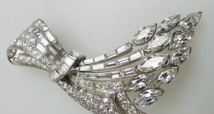 platinum, art deco diamond brooch bjkyxdo