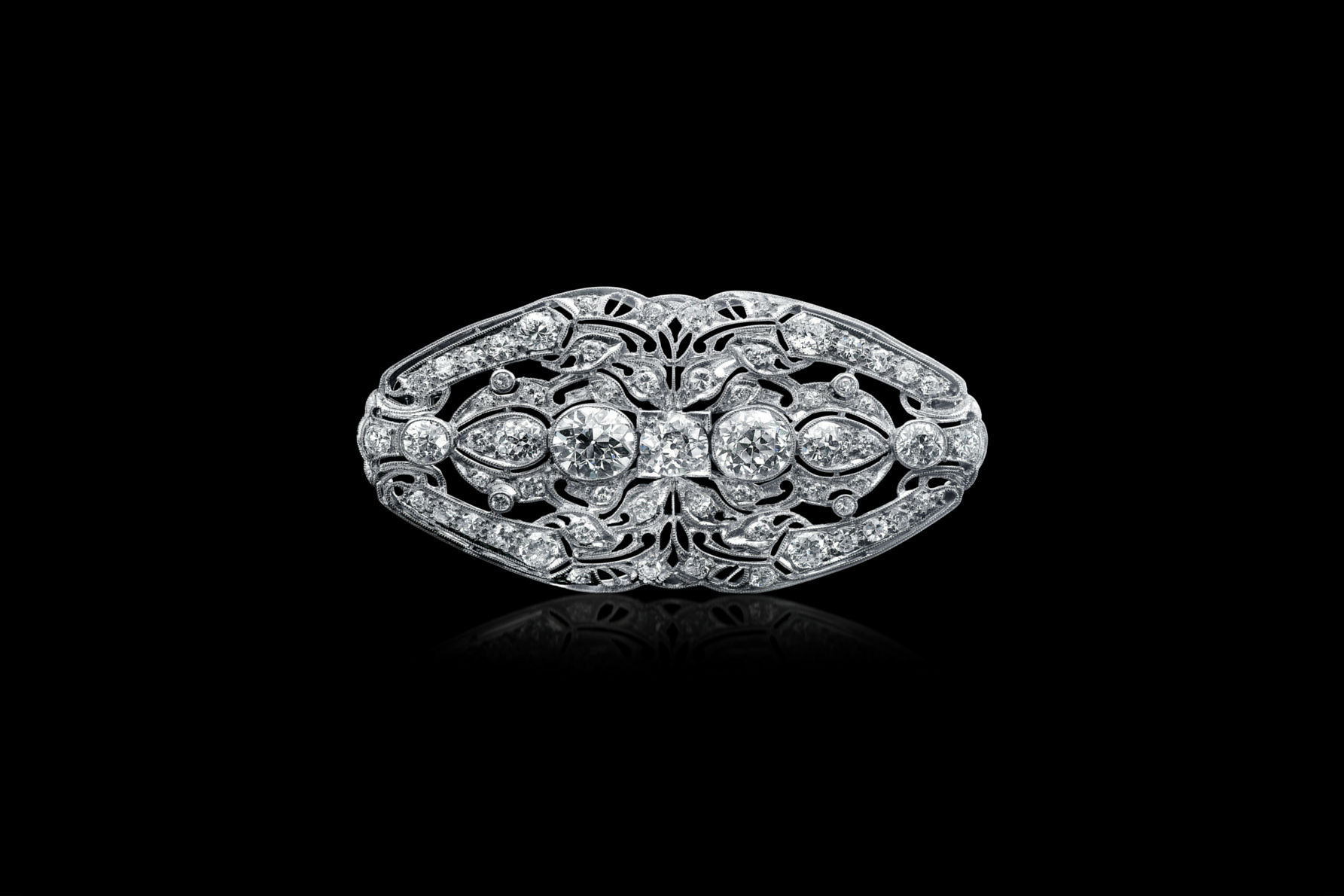 platinum art deco diamond brooch uhmzymw