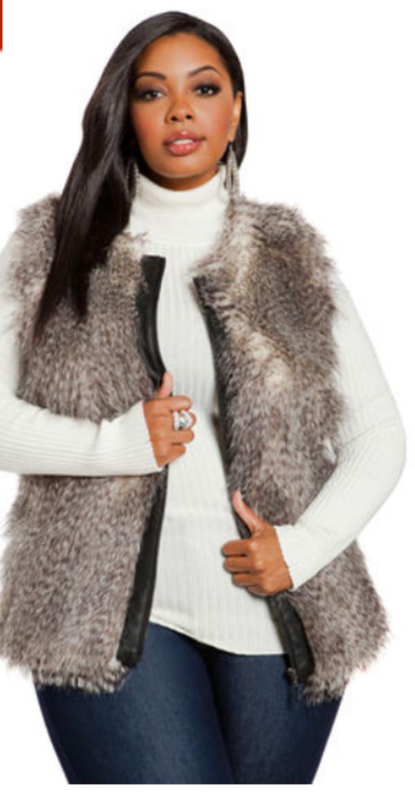 plus size fur vest coat: vest, faux fur vest, plus size coat - wheretoget rtomruz
