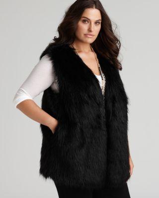 plus size fur vest dknyc plus size black faux fur vest | bloomingdaleu0027s xvnluiv