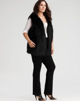 plus size fur vest dknyc plus size black faux fur vest u0026 more | bloomingdaleu0027s zrybdpo