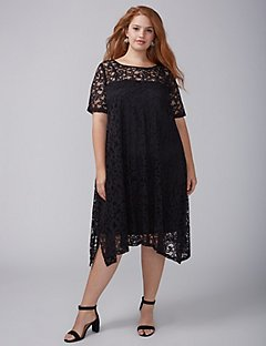 plus size special occasion dresses short-sleeve lace swing dress ehbricm