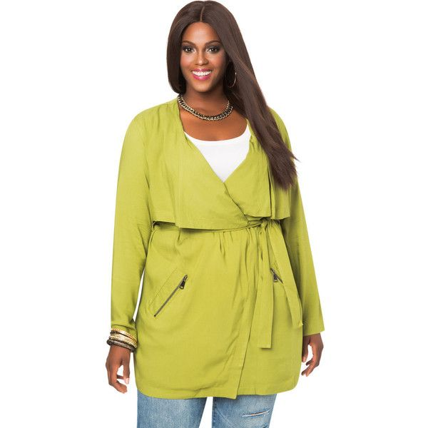 plus size trench coat ashley stewart tencel twill trench coat ($60) ❤ liked on polyvore featuring  outerwear,. plus txzaiye