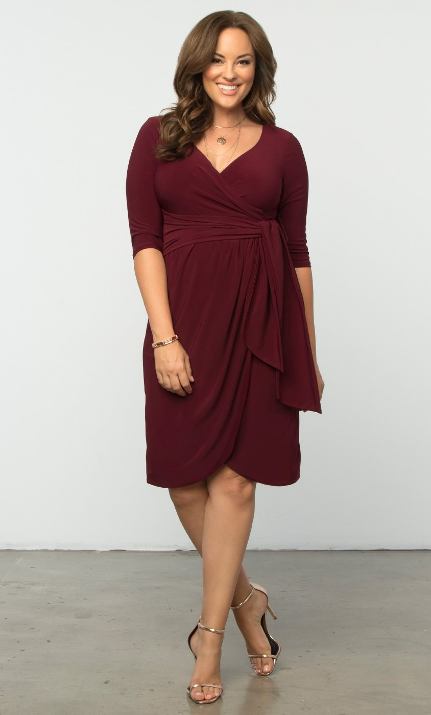 plus size wrap dress plus size formal dresses | harlow faux wrap | kiyonna hoisvpm