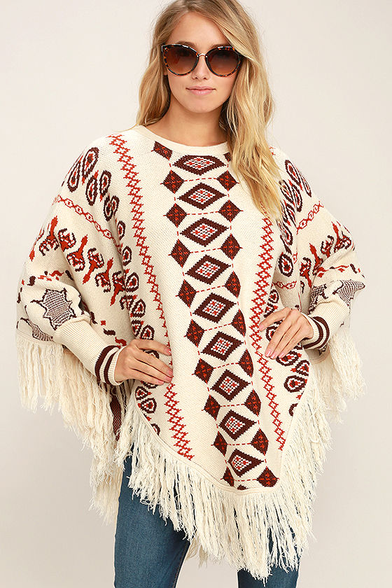 Information and shopping tips of Poncho Sweater