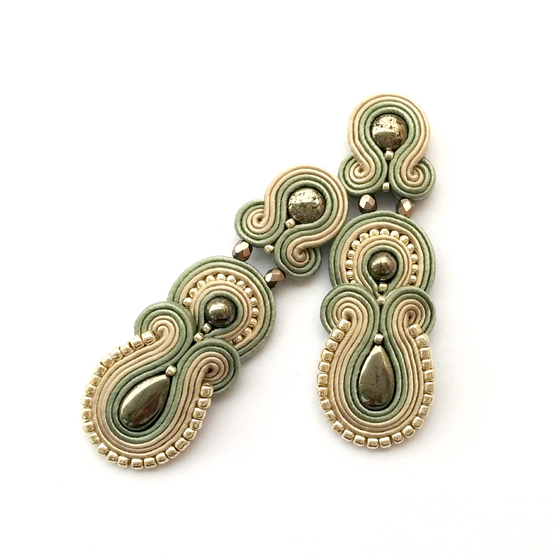 post earrings soutache earrings ... auoymjo
