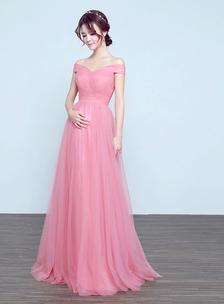 pregnant dresses a line off shoulder pink prom dress. pregnant ... dkarmdv