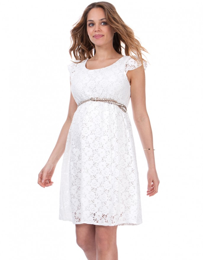 pregnant dresses ... white summer lace maternity dress for pregnant women kwscbsb
