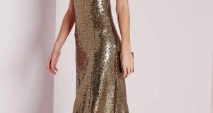 premium sequin maxi dress bronze euvowxx