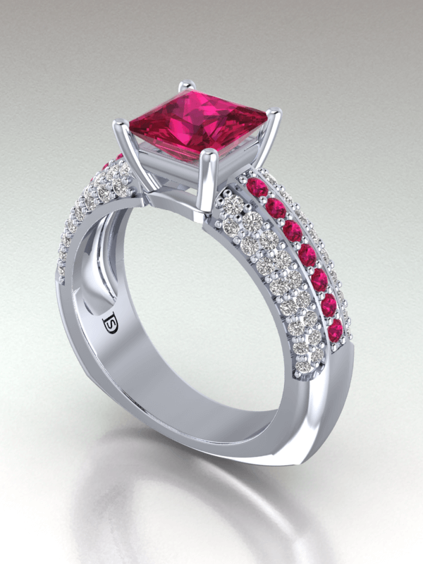 princess cut ruby engagement rings ... blatewg