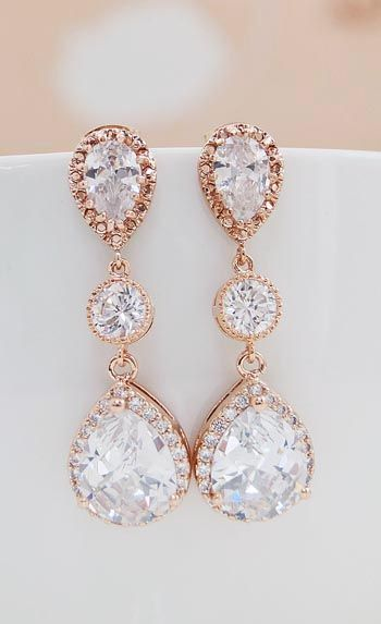 prom jewelry lux cubic zirconia with cz connector bridal earrings ciktylp