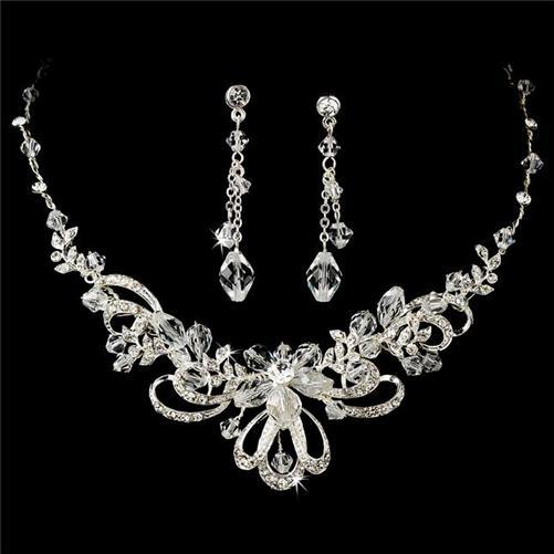prom jewelry wedding bridal prom necklace earrings jewelry set zmstxpl