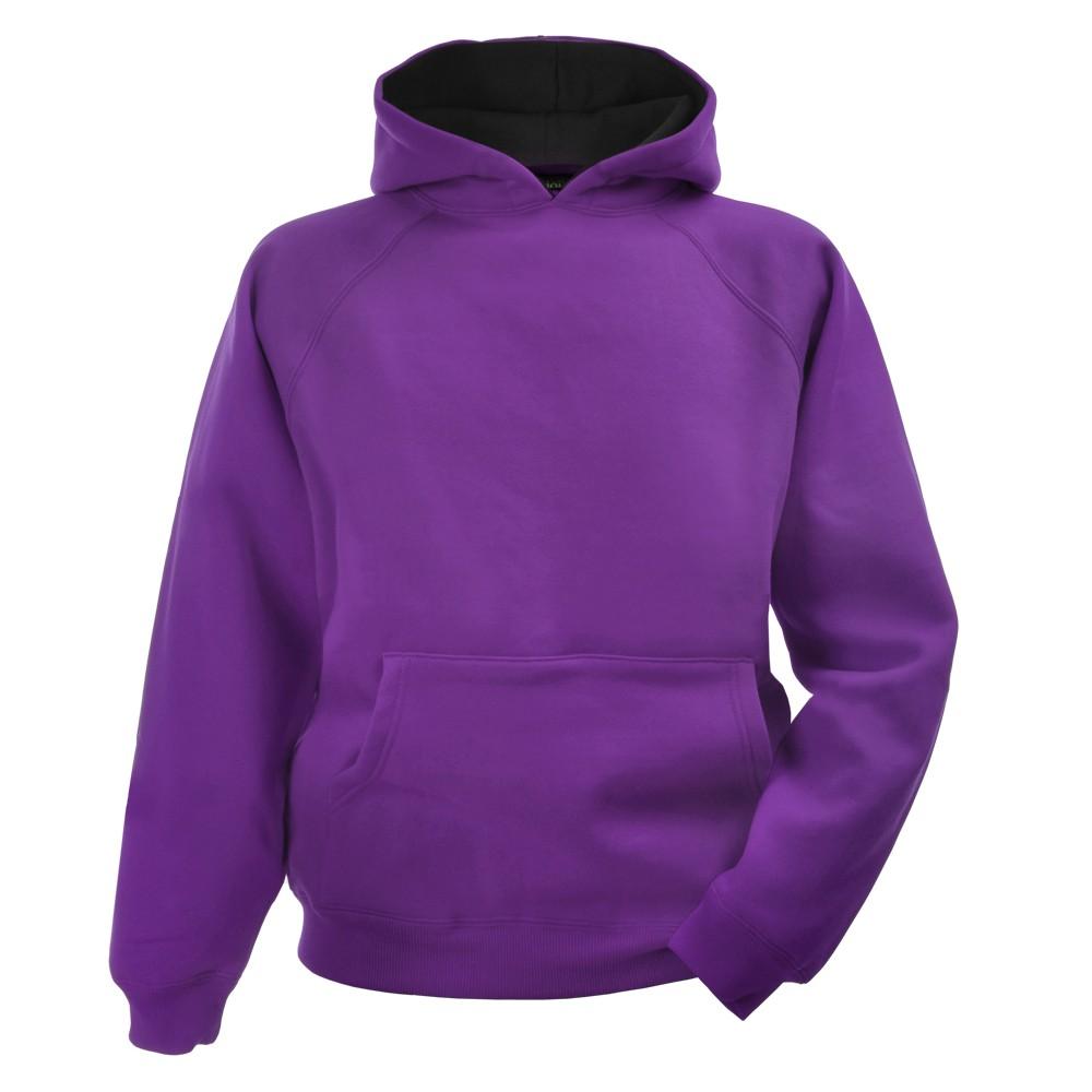 purple hoodie childu0027s 380g hoodie - purple/black iftuhrv